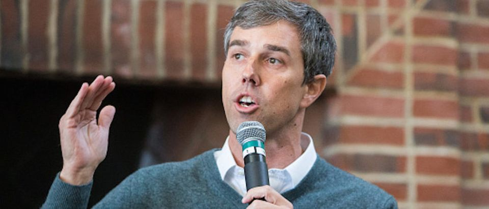 Democratic presidential candidate Beto O'Rourke speaks during a meet and greet at Plymouth State College on March 20, 2019 in Plymouth, New Hampshire. (Photo by Scott Eisen/Getty Images)