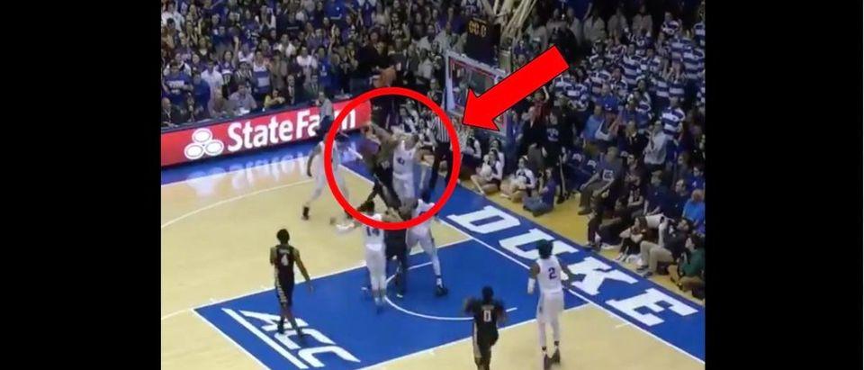 Duke (Credit: Screenshot/Twitter Video https://twitter.com/espn/status/1103119600303124481)