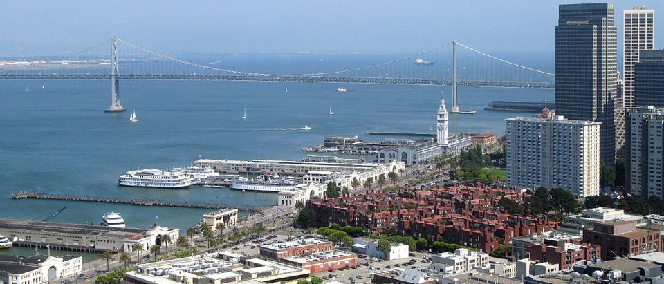 View of the Embarcadero district of San Francisco