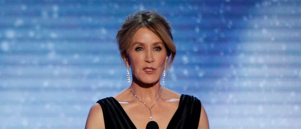 Actress Felicity Huffman speaks on stage. REUTERS/Mario Anzuoni