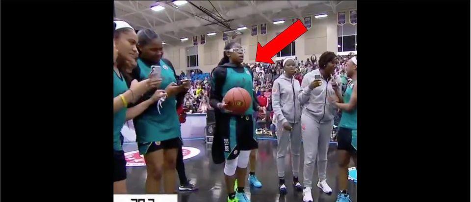 Fran Belibi (Credit: Screenshot/Twitter Video https://twitter.com/SportsCenter/status/1110347881087729664)