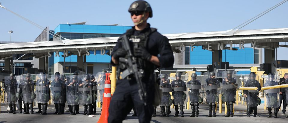 Customs And Border Patrol Holds Readiness Exercise At U.S.- Mexican Border