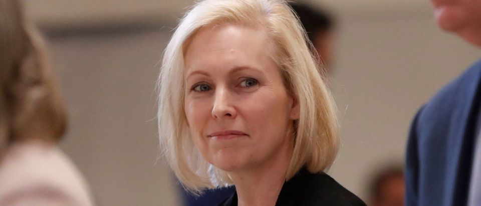 A second top staffer in presidential hopeful and Democratic New York Sen. Kirsten Gillibrand's Senate office was accused of sexual misconduct, according to a report published Monday. Pablo Martinez Monsivais - Pool/Getty Images
