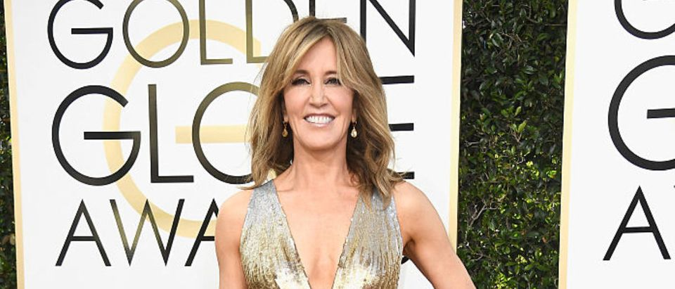 Actress Felicity Huffman attends the 74th Annual Golden Globe Awards at The Beverly Hilton Hotel on January 8, 2017 in Beverly Hills, California. (Photo by Frazer Harrison/Getty Images)