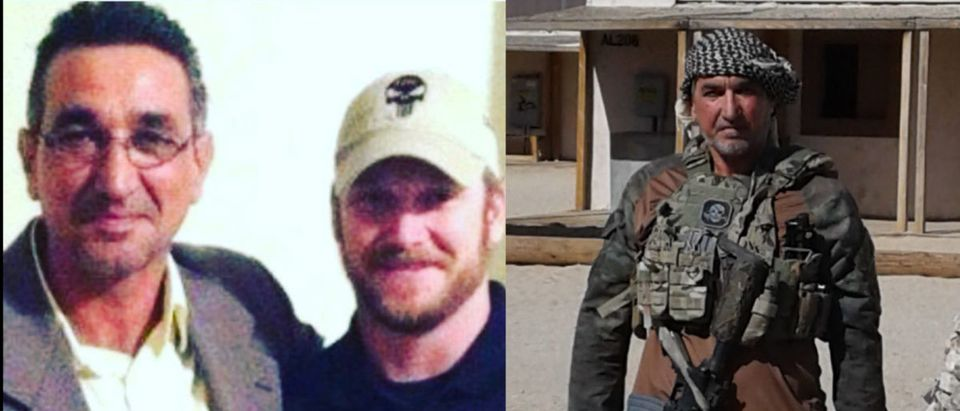 Left: Riyadh Ahmed Khalaf Al Ahmady 'Johnny Walker', Center: Chris Kyle Navy Seal and Sniper, Right: Left: Riyadh Ahmed Khalaf Al Ahmady 'Johnny Walker'
