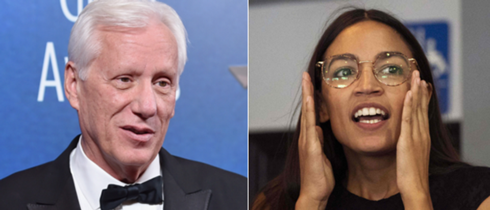 James Woods (left, Alberto E. Rodriguez, Getty) Alexandria Ocasio-Cortez (right, Don Emmert, Getty)