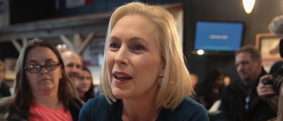 Senator Kirsten Gillibrand Holds Meet & Greets In Iowa