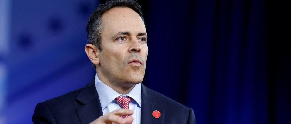 Republican Gov. Matt Bevin of Kentucky speaks during the Conservative Political Action Conference (CPAC) in National Harbor, Maryland, U.S., Feb. 23, 2017. REUTERS/Joshua Roberts