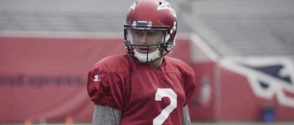 Johnny Manziel (Credit: Screenshot/Twitter Video https://twitter.com/theaaf/status/1109560322040295424?s=21)