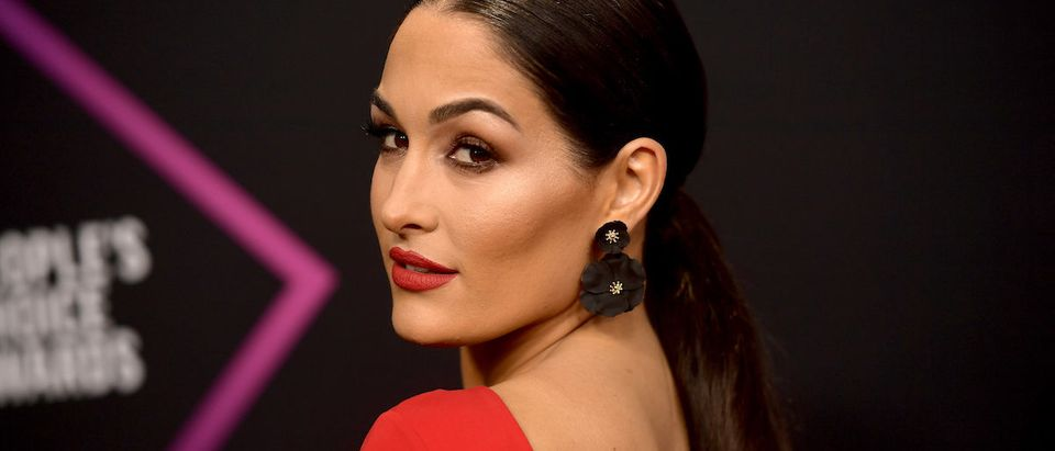 Nikki Bella attends the People's Choice Awards 2018 at Barker Hangar on November 11, 2018 in Santa Monica, California. (Photo by Matt Winkelmeyer/Getty Images)