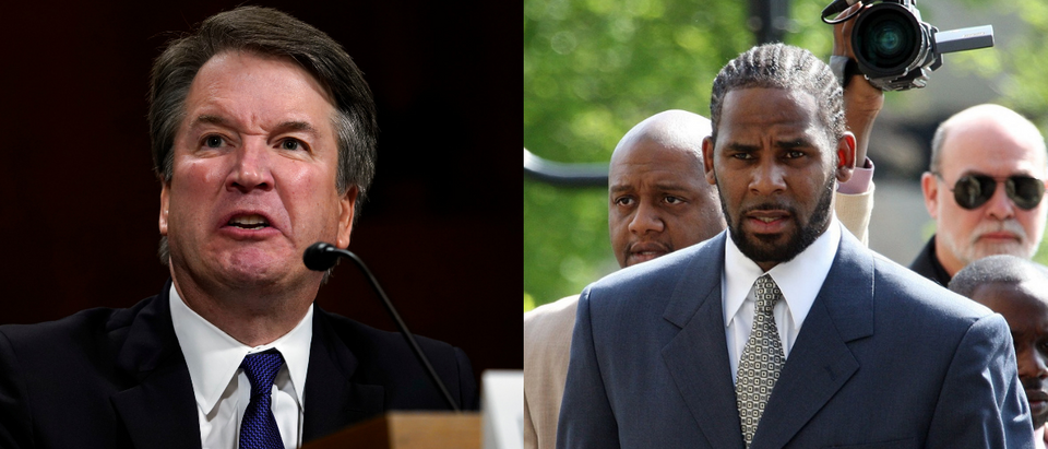 Left: Brett Kavanaugh (Getty Images), Right: R Kelly (Getty Images)