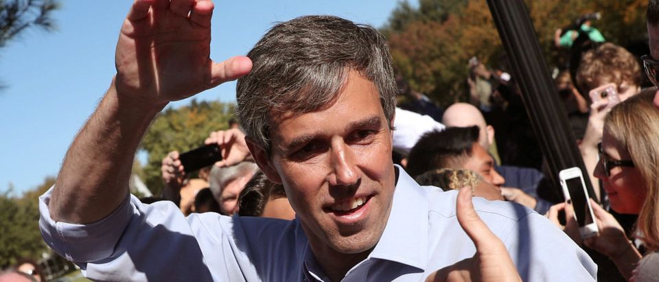 U.S. Rep. Beto O'Rourke (D-TX), candidate for U.S. Senate greets supporters at a campaign rally in Carrollton