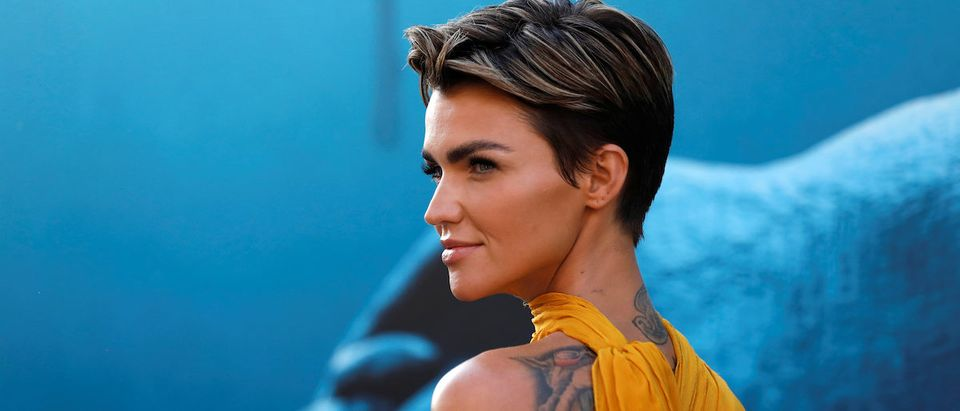 "Cast member Ruby Rose poses at the premiere for ""The Meg"" in Los Angeles, California, U.S., August 6, 2018. REUTERS/Mario Anzuoni"