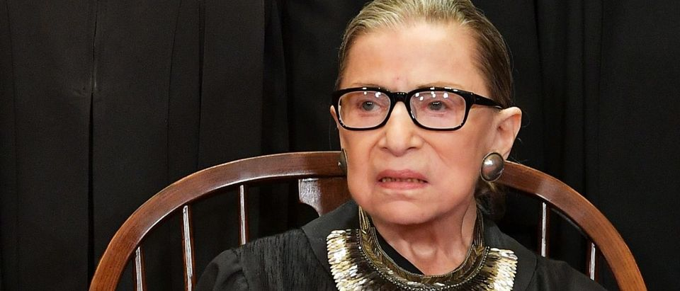 Justice Ruth Bader Ginsburg poses for the official photo at the Supreme Court on November 30, 2018. (Mandel Ngan/AFP/Getty Images)