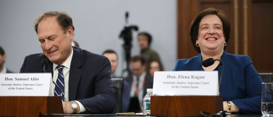 Justices Samuel Alito and Elana Kagan testify about the court's budget during a hearing before the House Appropriations Committee's Financial Services and General Government Subcommittee March 07, 2019 in Washington, D.C. (Chip Somodevilla/Getty Images)