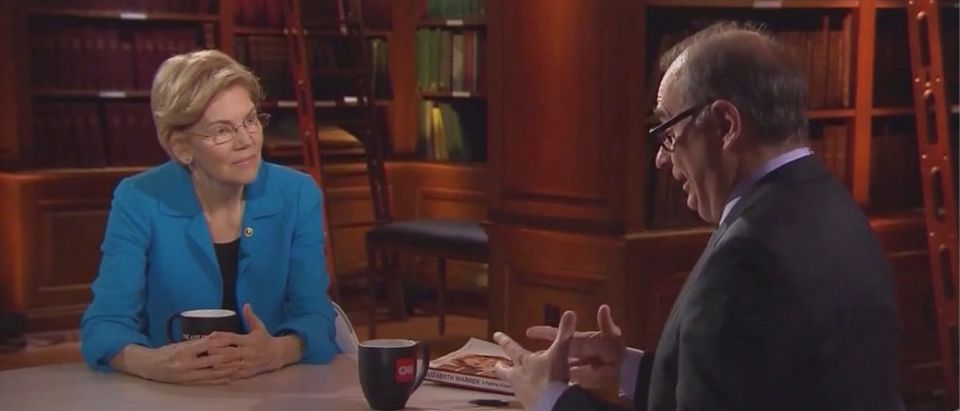 David Axelrod Interviews Elizabeth Warren (CNN Screenshot: March 2, 2019)