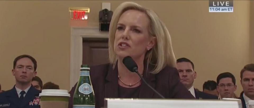 DHS Sec. Kirstjen Nielsen testifies on border security, 3/6/2019. Screen Shot/C-Span
