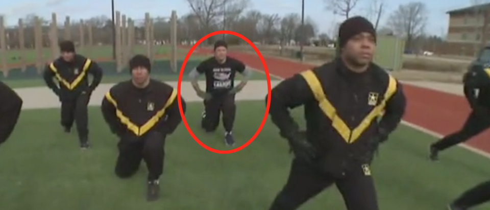 Fox News host Pete Hegseth takes new Army fitness test. Screen Shot/Fox News
