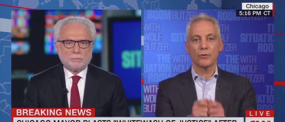 Wolf Blitzer Interviews Rahm Emanuel (CNN Screenshot)