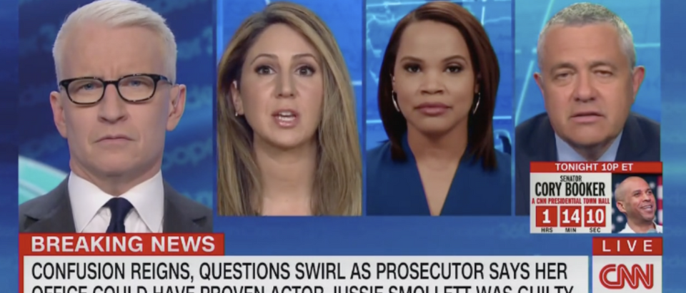 Laura Coates, Jeffrey Toobin, and Smollett lawyer (CNN 3/27)