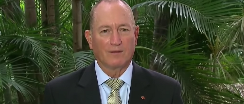 Screen Shot:Fraser Anning:Screen Shot:Youtube