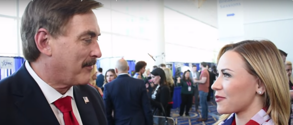 Mike Lindell and Stephanie Hamill