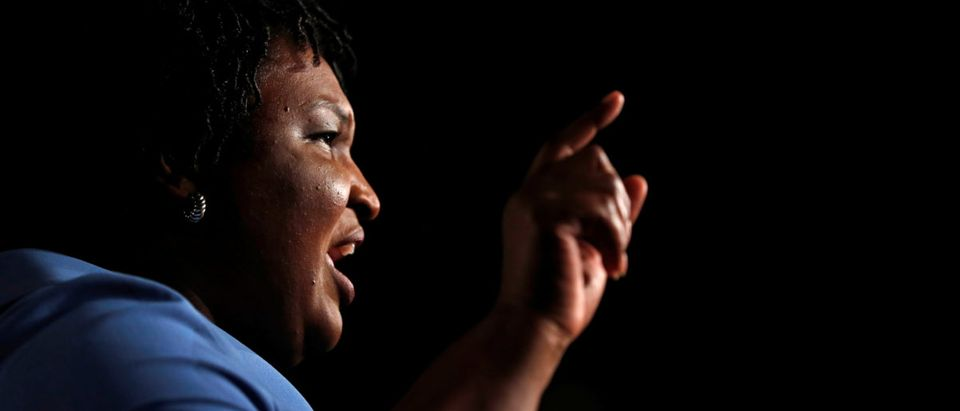 Georgia Democratic gubernatorial nominee Stacey Abrams speaks to supporters during a midterm election night party in Atlanta, Georgia, U.S., November 7, 2018. REUTERS/Leah Millis