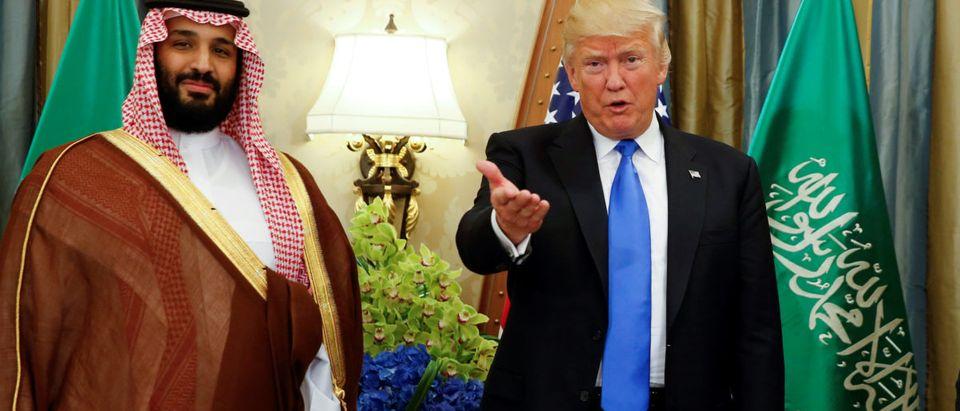 FILE PHOTO: U.S. President Trump meets with Saudi Arabia's Deputy Crown Prince Mohammed bin Salman in Riyadh