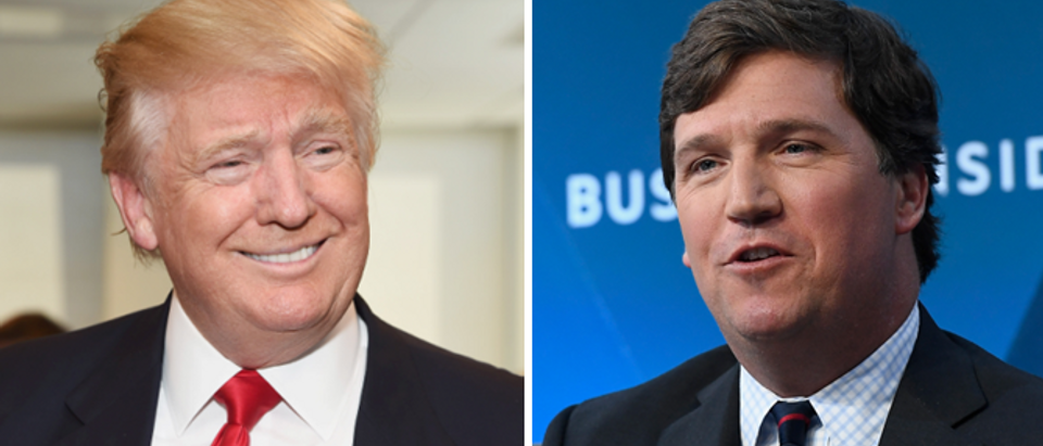 Tucker Carlson (Roy Rochlin, Getty) Donald Trump (Gary Gershoff, Getty)