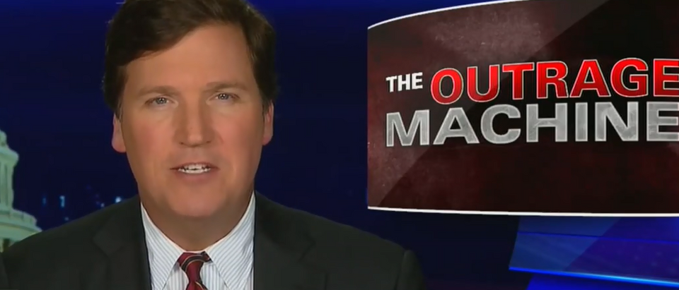 Tucker Carlson slams the great American outrage machine (Fox News screengrab)