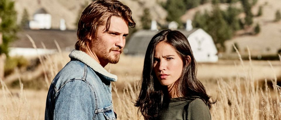 """Yellowstone"" premieres Wednesday, June 20 on Paramount Network. Pictured (l to r): Kayce Dutton (Luke Grimes) and Monica Long (Kelsey Asbille). (Credit: Paramount Network)"