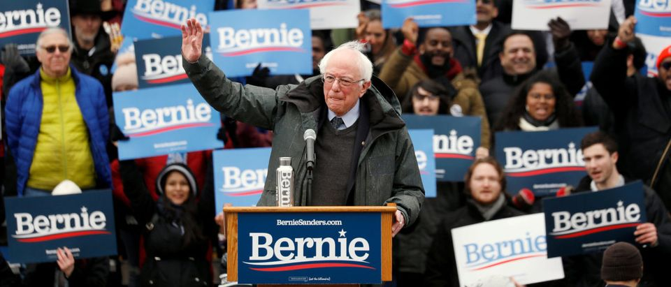 U.S. Presidential Candidate and Vermont Senator Bernie Sanders speaks at a rally in New York, United States March 2, 2019. REUTERS/Andrew Kelly