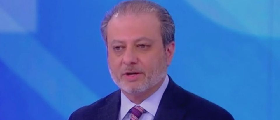 "Former US Attorney Preet Bharara appears on ABC's ""The View."" Screen Shot/ABC"
