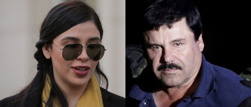 "Emma Coronel (L) is married to convicted drug trafficker Joaquin ""El Chapo"" Guzman (R). REUTERS/Brendan McDermid and REUTERS/Henry Romero/File Photo/File Photo"