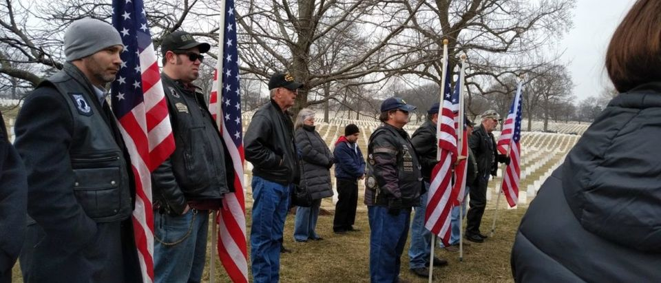 Local citizens attend the funeral of Air Force veteran SGT Robert Wunderlich at Jefferson Barracks National Cemetery. Virginia Kruta/The Daily Caller
