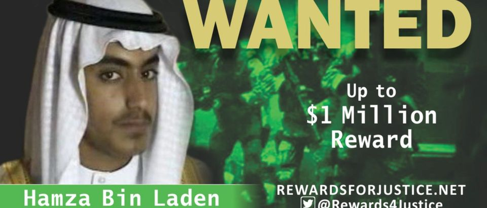 A photograph circulated by the U.S. State Departments Twitter account to announce a $1 million USD reward for al Qaeda key leader Hamza bin Laden, son of Osama bin Laden, is seen March 1, 2019. State Department/Handout via REUTERS ATTENTION EDITORS - THIS IMAGE WAS PROVIDED BY A THIRD PARTY.