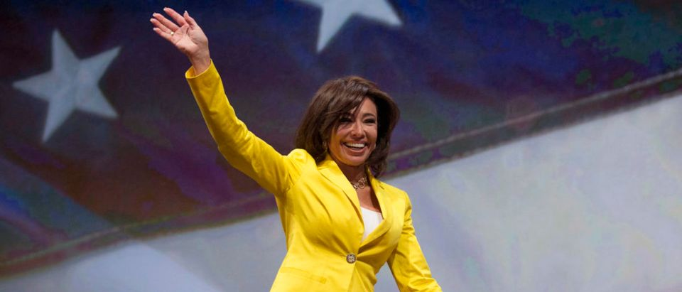 "Jeanine Pirro, host of ""Justice with Judge Jeanine,"" waves before speaking at the National Rifle Association-Institute for Legislative Action (NRA-ILA) Leadership Forum at the George R. Brown Convention Center, the site for the NRA's annual meeting in Houston, Texas May 3, 2013. REUTERS/Adrees Latif"