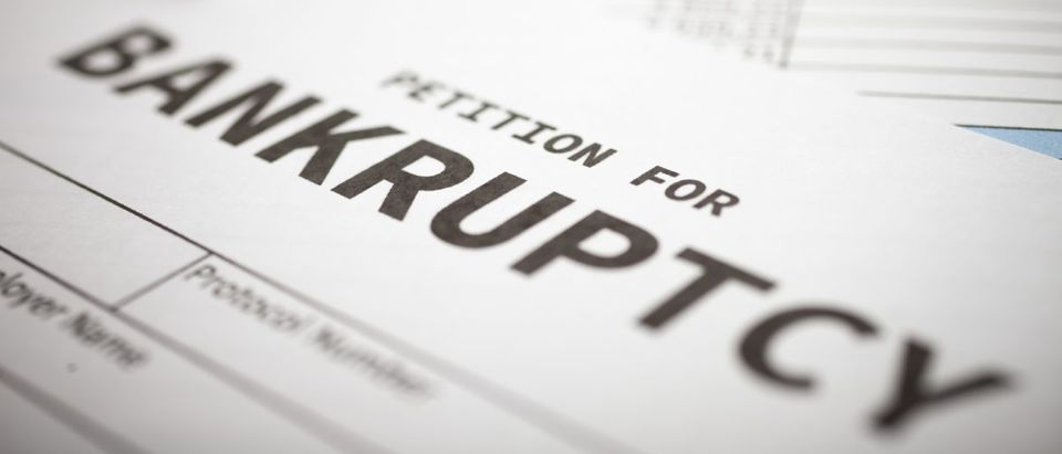 A petition for bankruptcy is blank. Shutterstock image via Minerva Studio