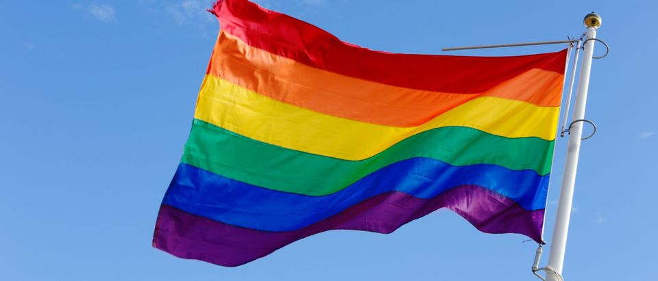 Pictured is a rainbow flag. (Roland Magnusson/Shutterstock)