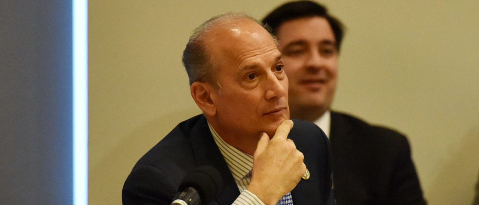 Tom Marino participates in the 60th Annual GRAMMY Awards - House Judiciary Hearing at Fordham Law School on January 26, 2018 in New York City. (Photo by Sean Zanni/Getty Images for NARAS)