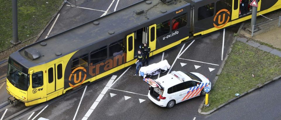 Special Police forces inspect a tram at the 24 Oktoberplace in Utrecht, on March 18, 2019 where a shooting took place. (RICARDO SMIT/AFP/Getty Images)