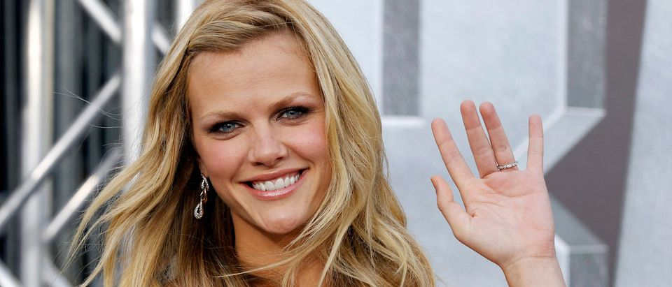 """Cast member Brooklyn Decker poses at the American premiere of the Universal Pictures film """"Battleship"""" in Los Angeles May 10, 2012. REUTERS/Danny Moloshok"""
