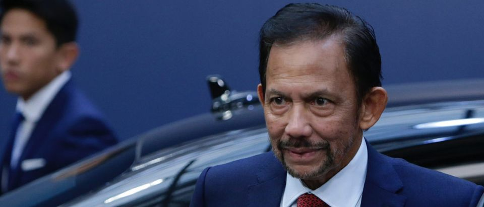 Sultan of Brunei Haji Hassanal Bolkiah arrives for a Asia Europe Meeting (ASEM) at the European Council in Brussels on October 19, 2018. (ARIS OIKONOMOU/AFP/Getty Images)