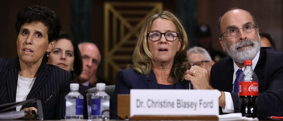 TIME Magazine named Christine Blasey Ford one of the 100 most influential people in the world. (Photo by Win McNamee/Getty Images)