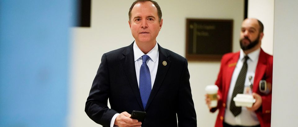 FILE PHOTO: Chairman of the House Intelligence Committee Adam Schiff (D-CA) arrives for a closed hearing with Michael Cohen, the former personal attorney of U.S. President Donald Trump, on Capitol Hill in Washington
