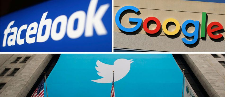 Facebook, Google and Twitter logos are seen in this combination photo from Reuters files. REUTERS/File Photos