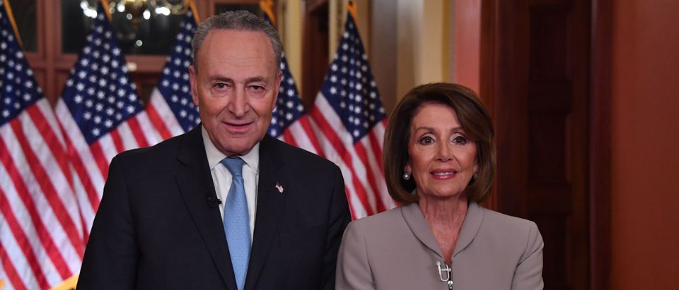Rep. Nancy Pelosi and Sen. Chuck Schumer deliver an address on border security.