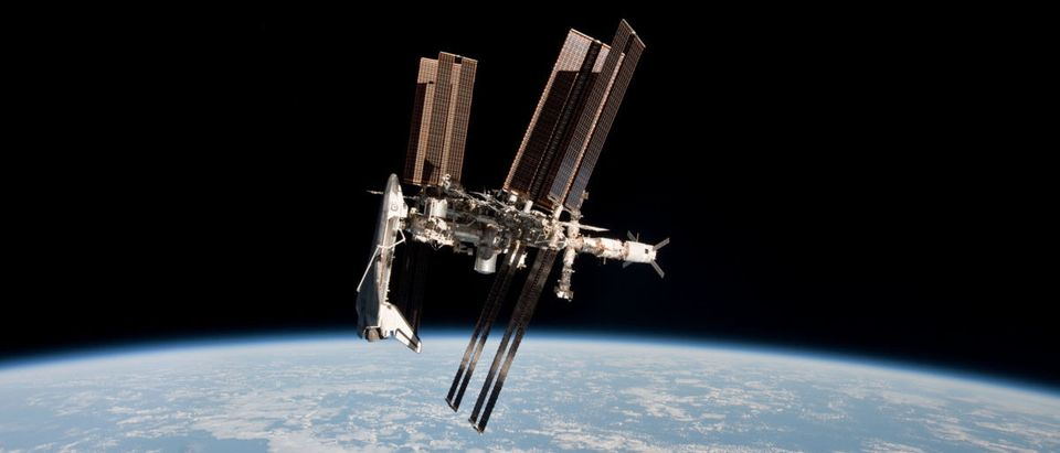 Endeavour Orbits Earth Docked To International Space Station
