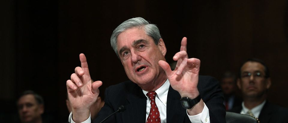 Director Robert Mueller III testifies before the Senate Judiciary Committee during a oversight hearing on Capitol Hill December 14, 2011 in Washington, DC. (Win McNamee/Getty Images)