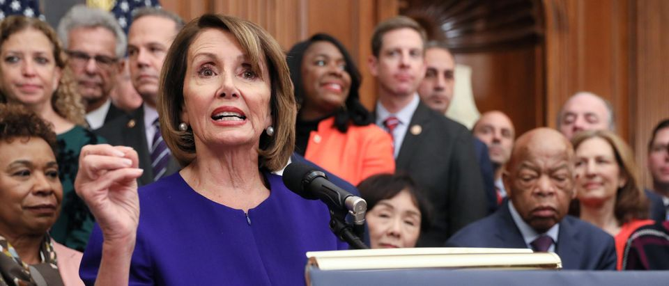 U.S. House Speaker Pelosi leads Democrats in introducing proposed government reform legislation at the U.S. Capitol in Washington